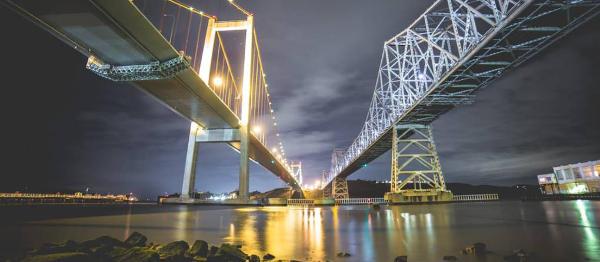 Dwa mosty nad wodą