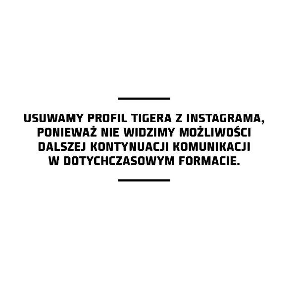 Post Tigera na Instagramie