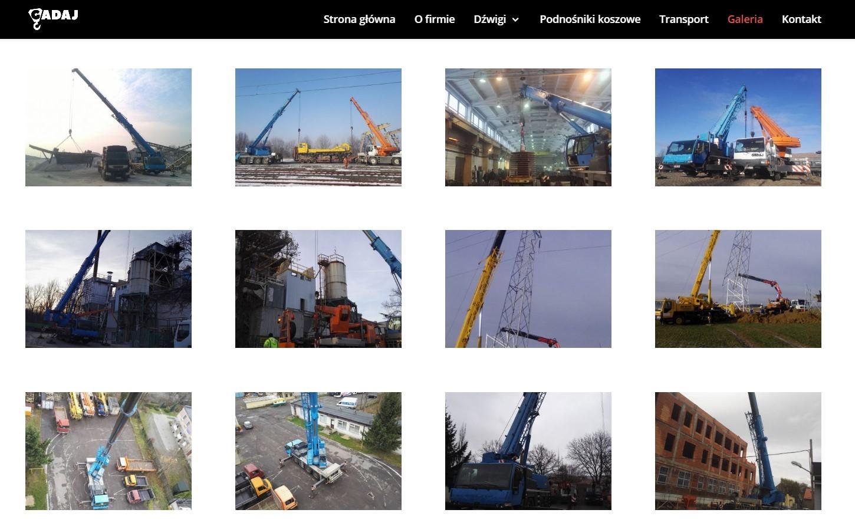 Portfolio nastronie internetowej firmy budowlanej